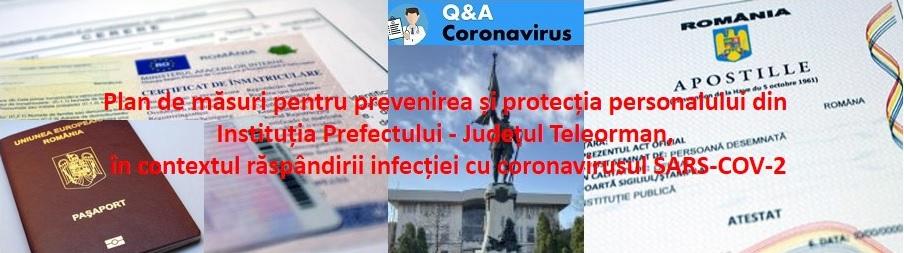 P L A N de măsuri cu privire la desfășurarea activităților și protecția personalului din Instituția